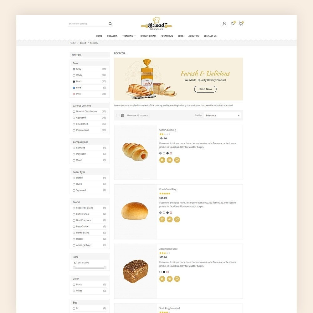 theme - Alimentation & Restauration - Bread bakery Store - 7