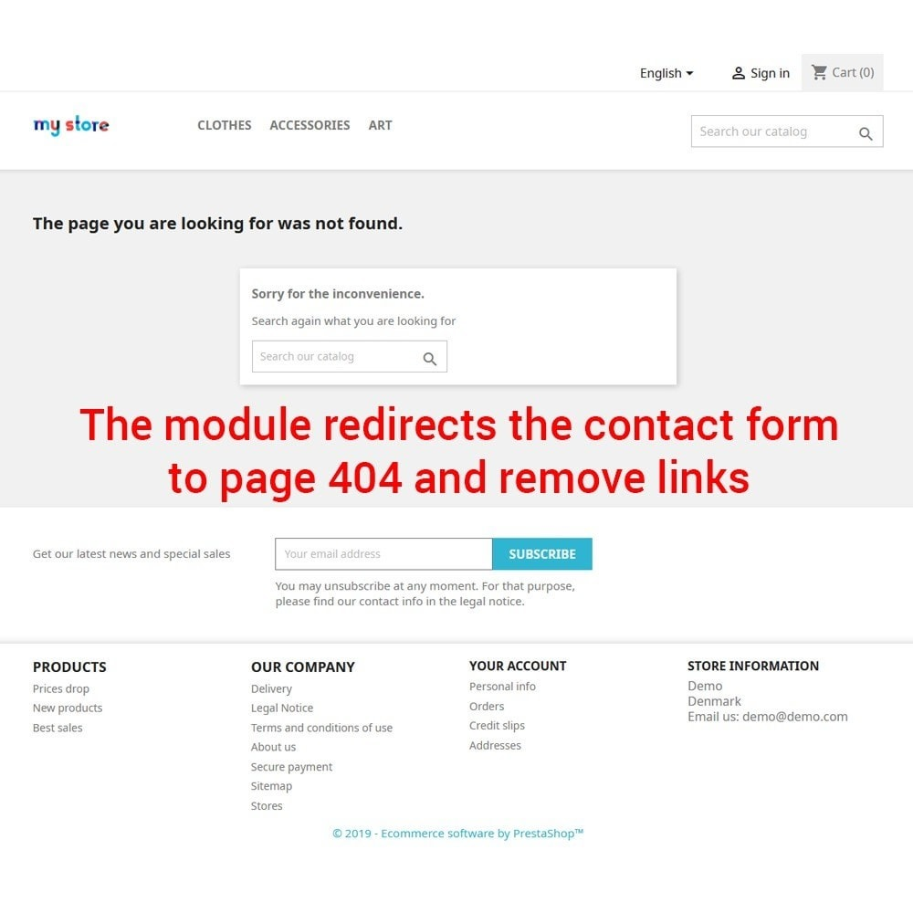 module - Kontaktformular & Umfragen - Disable contact form - 3