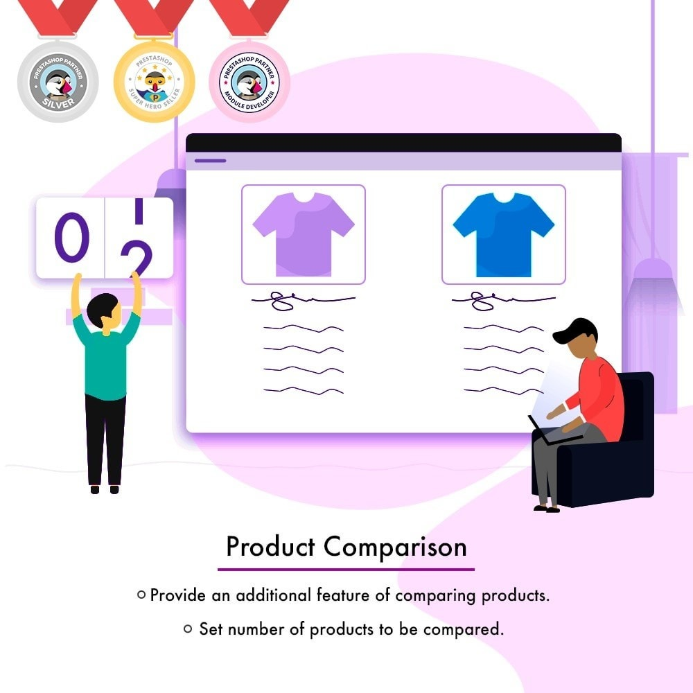 module - Zusatzinformationen & Produkt-Tabs - Product Comparison | Compare Attributes and Features - 1