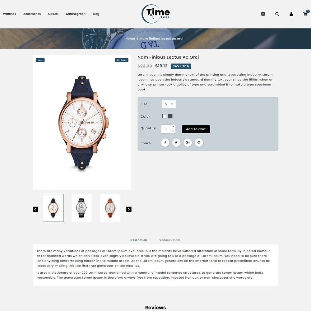 theme - Moda y Calzado - Timeless Watch Store - 5