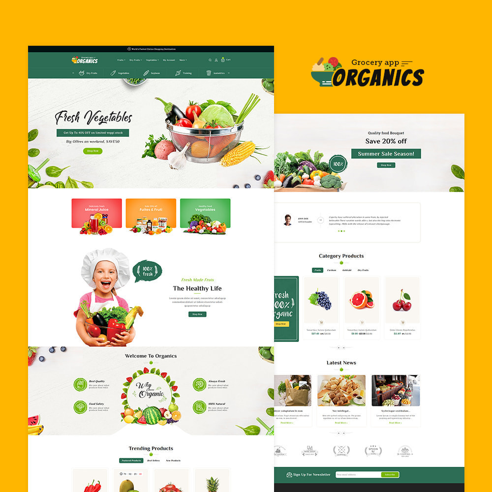 theme - Lebensmittel & Restaurants - Organics - Online Grocery Shop - 2