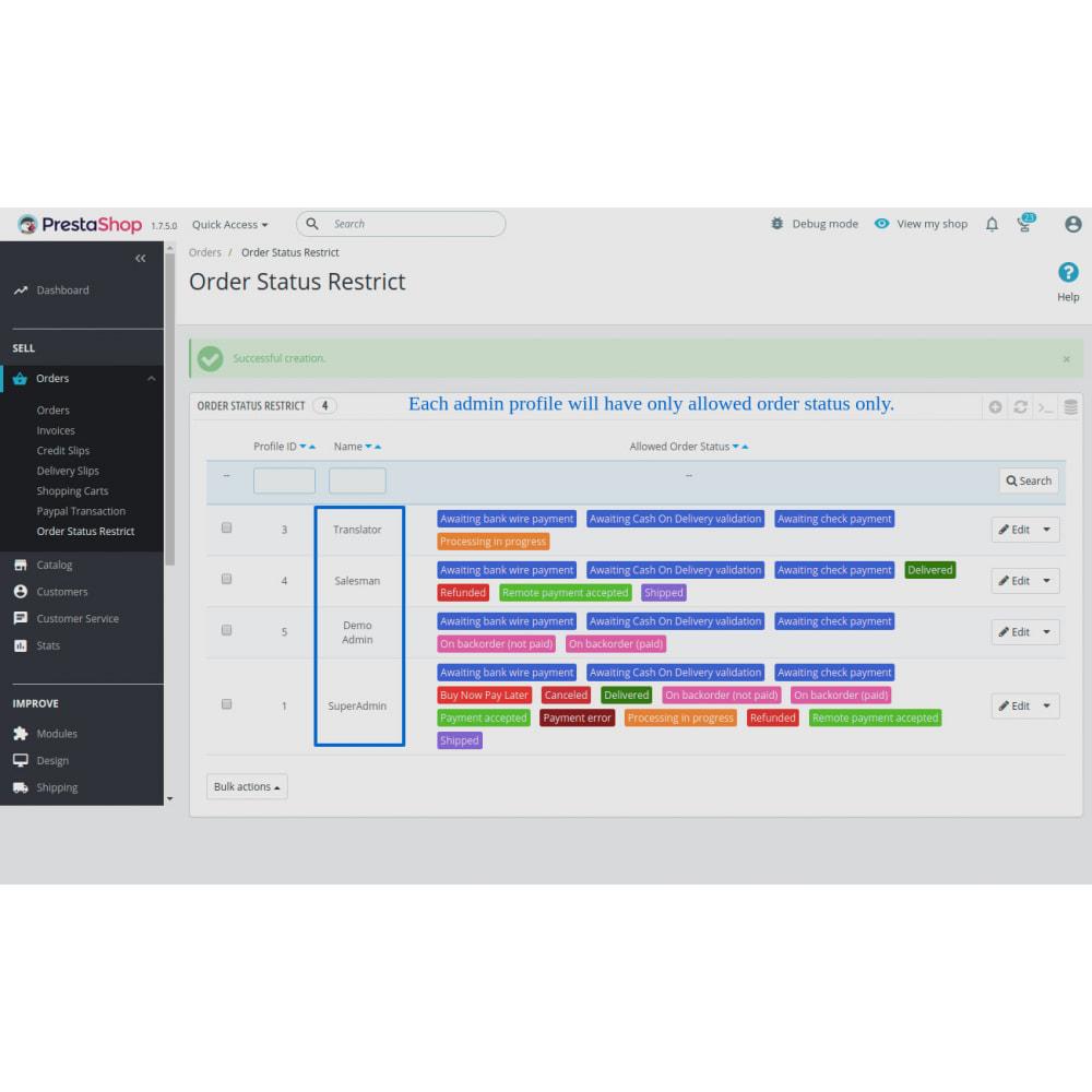 module - Gestion des Commandes - Restrict Order Status Based On Employees Profile - 3