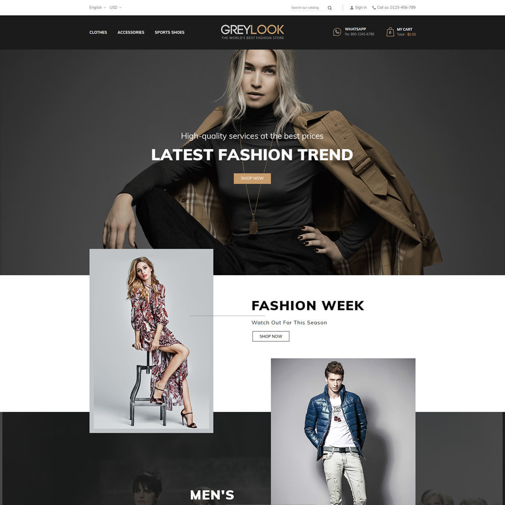 theme - Мода и обувь - Grey Look - Fashion Store - 2