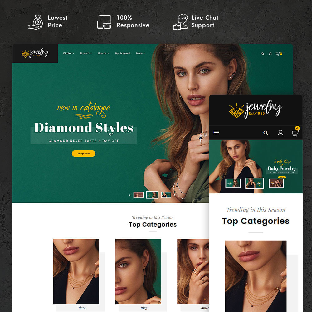 theme - Schmuck & Accesoires - Jewelry - Imitation & Catalog - 1