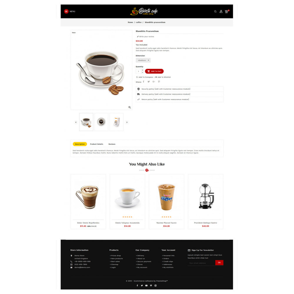 theme - Bebidas & Tabaco - Barista Cafe - Coffee & Drinks - 5