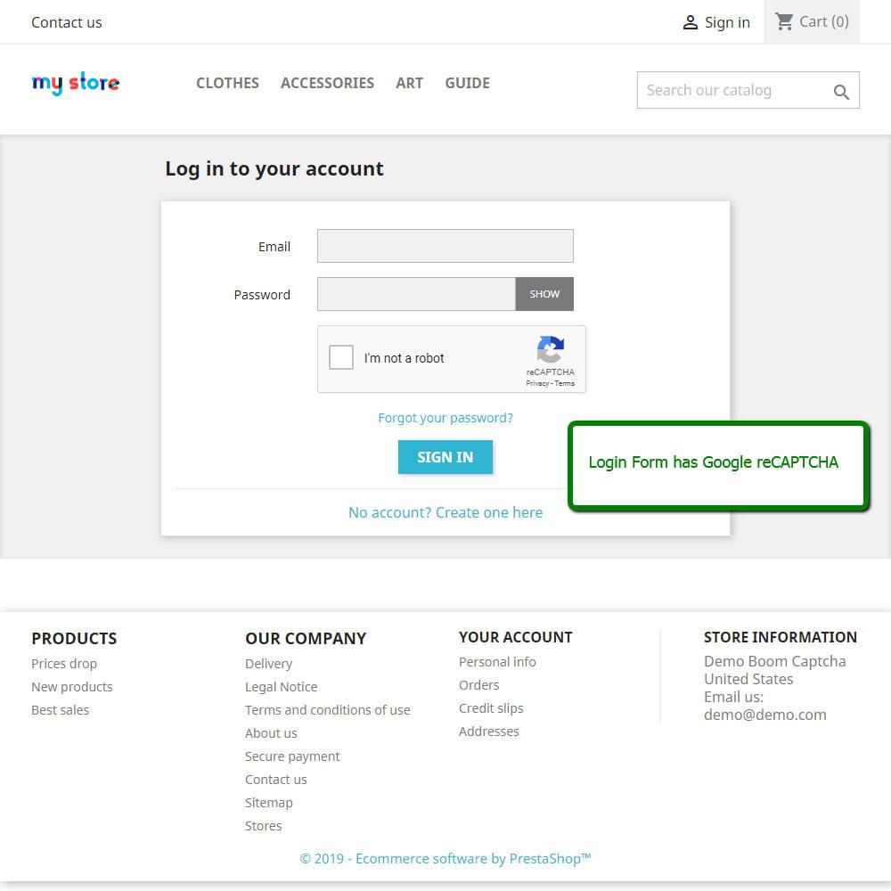 module - Segurança & Acesso - Boom CAPTCHA Google reCaptcha - 3