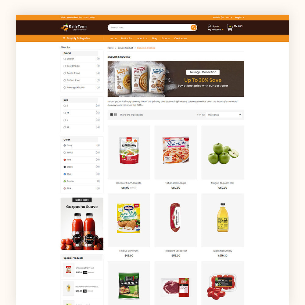 theme - Food & Restaurant - Daily Town Grocery Store - 5