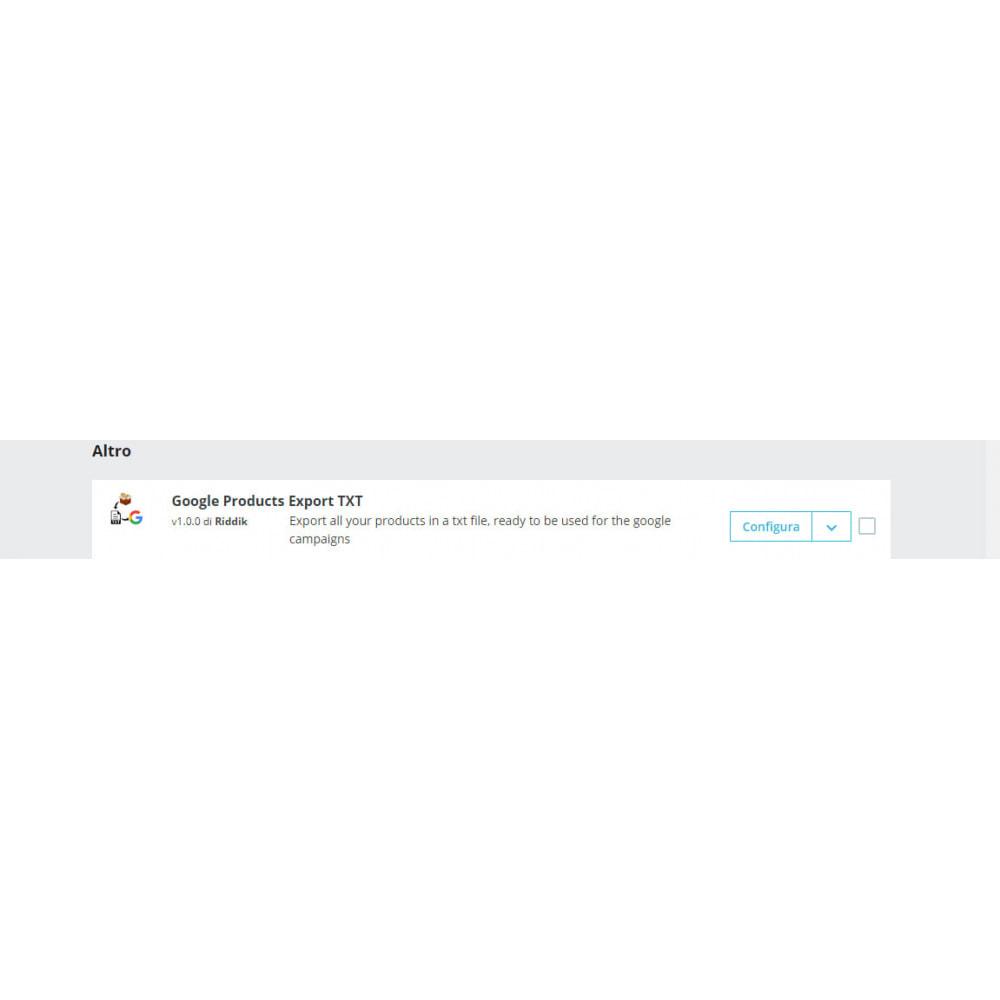 module - Comparatori di prezzi - Google Products Exporter TXT - 3