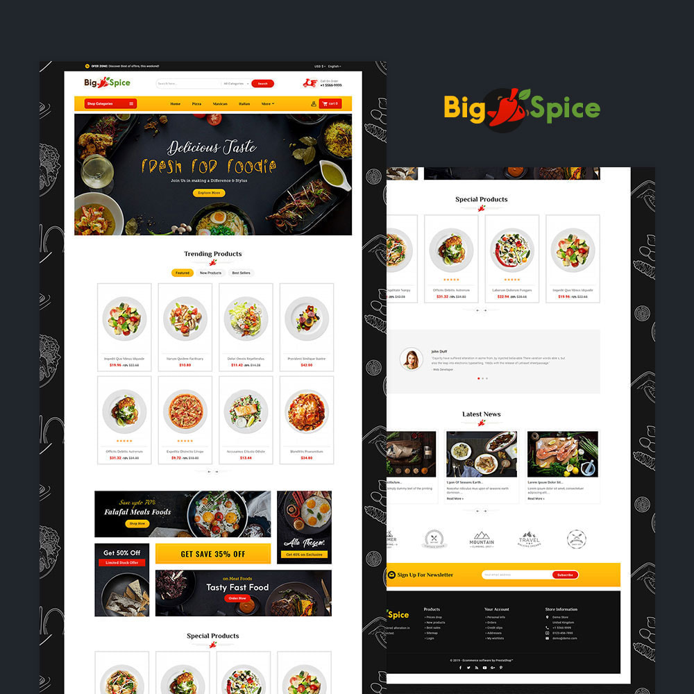 theme - Alimentation & Restauration - Big Spice - Fast Food & Dishes - 2