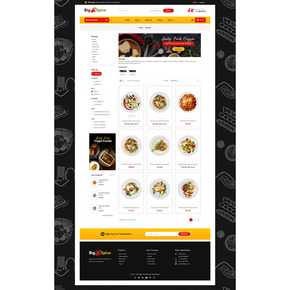 theme - Alimentation & Restauration - Big Spice - Fast Food & Dishes - 3