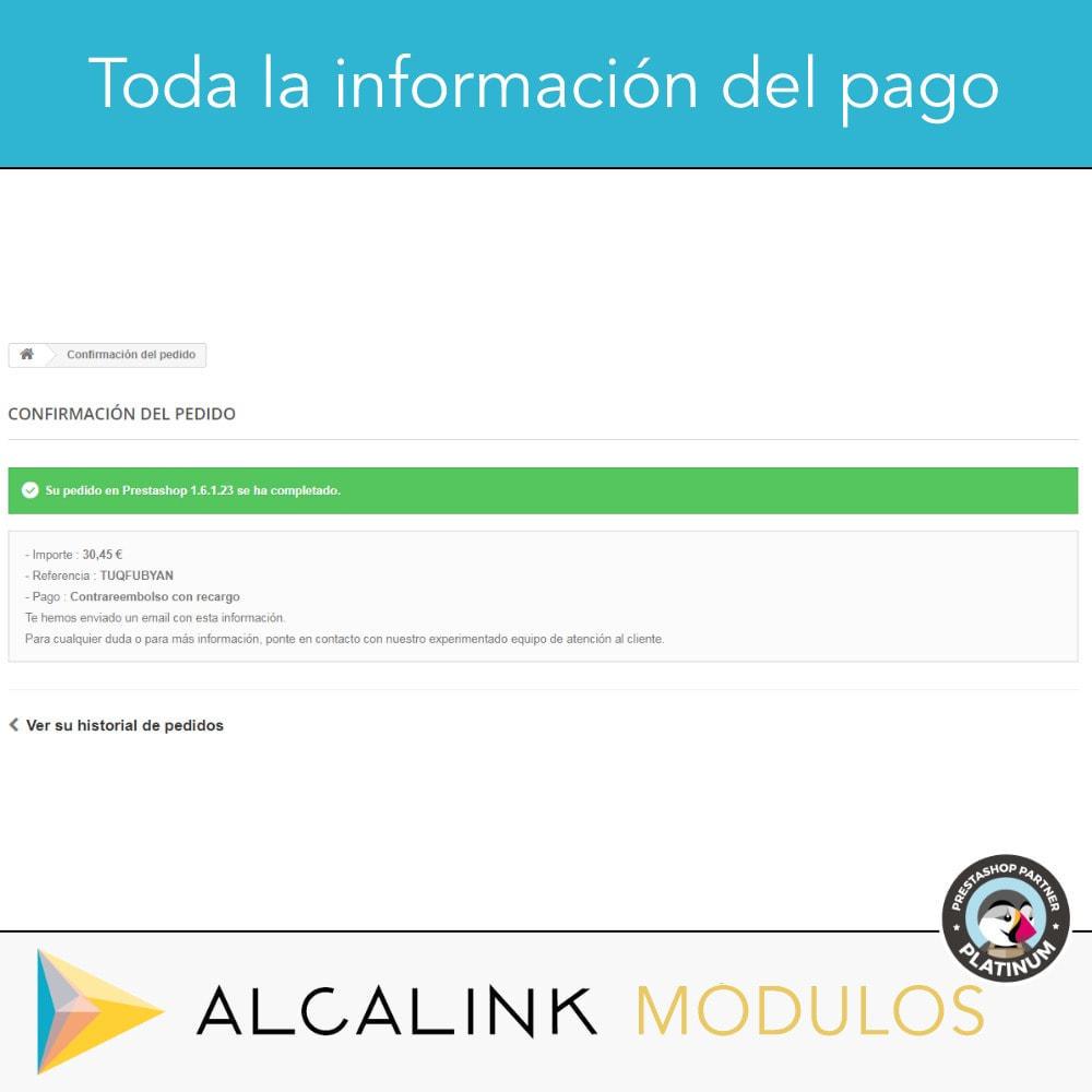 module - Pago a la Entrega (contrarrembolso) - Pago contrareembolso con recargo/comisión - 5