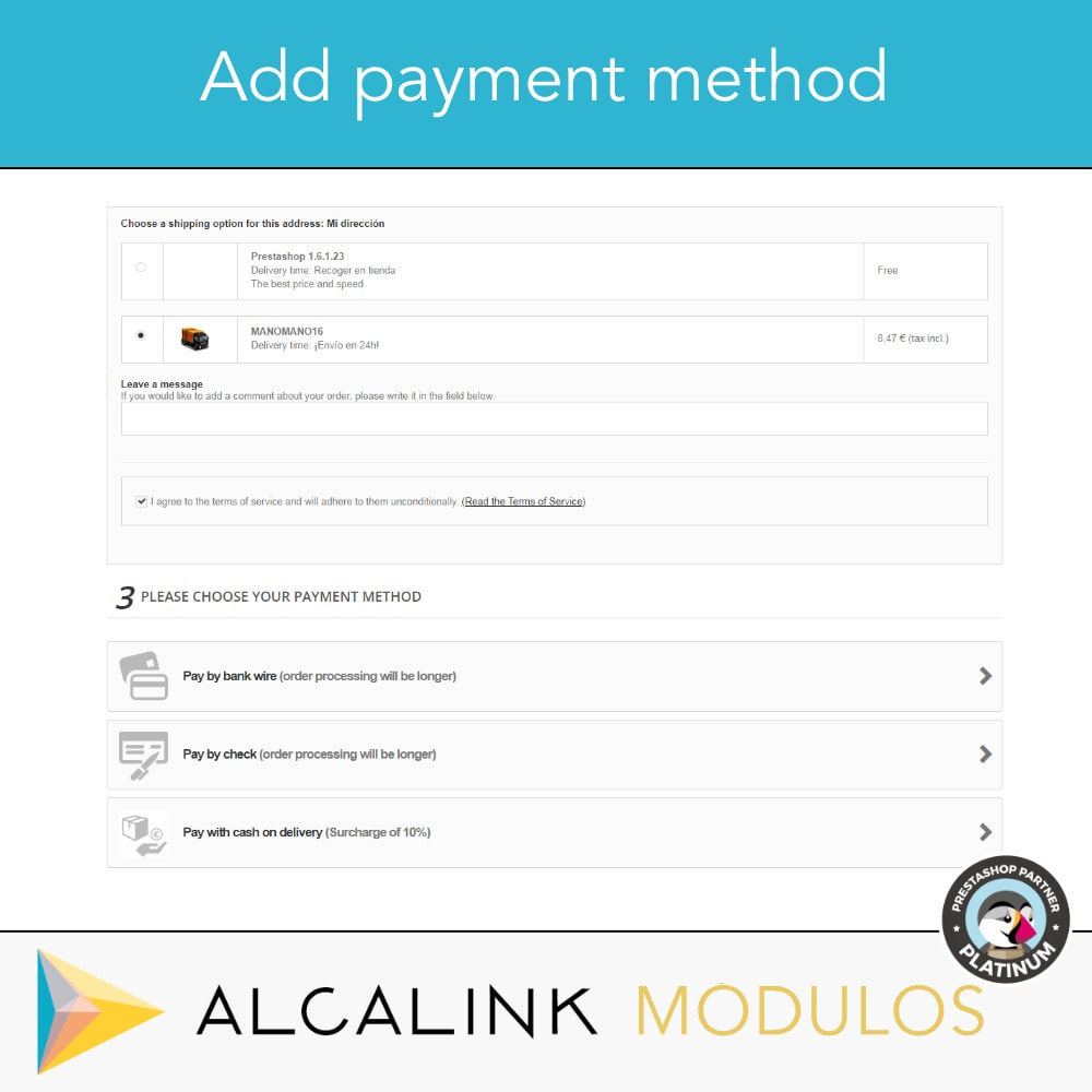 module - Betaling bij Levering - Payment cash on delivery with commission/surcharge - 4