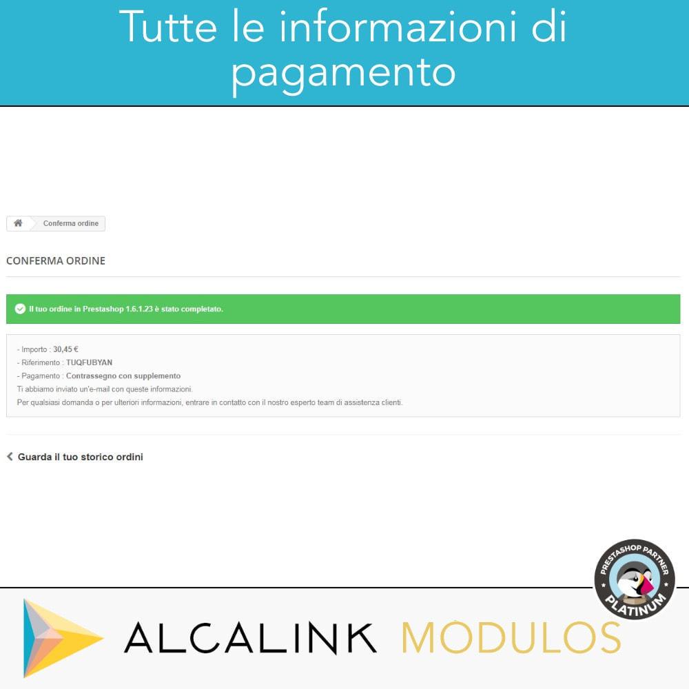 module - Pagamento alla Consegna (in contrassegno) - Contrassegno con commissione/sovrapprezzo - 5