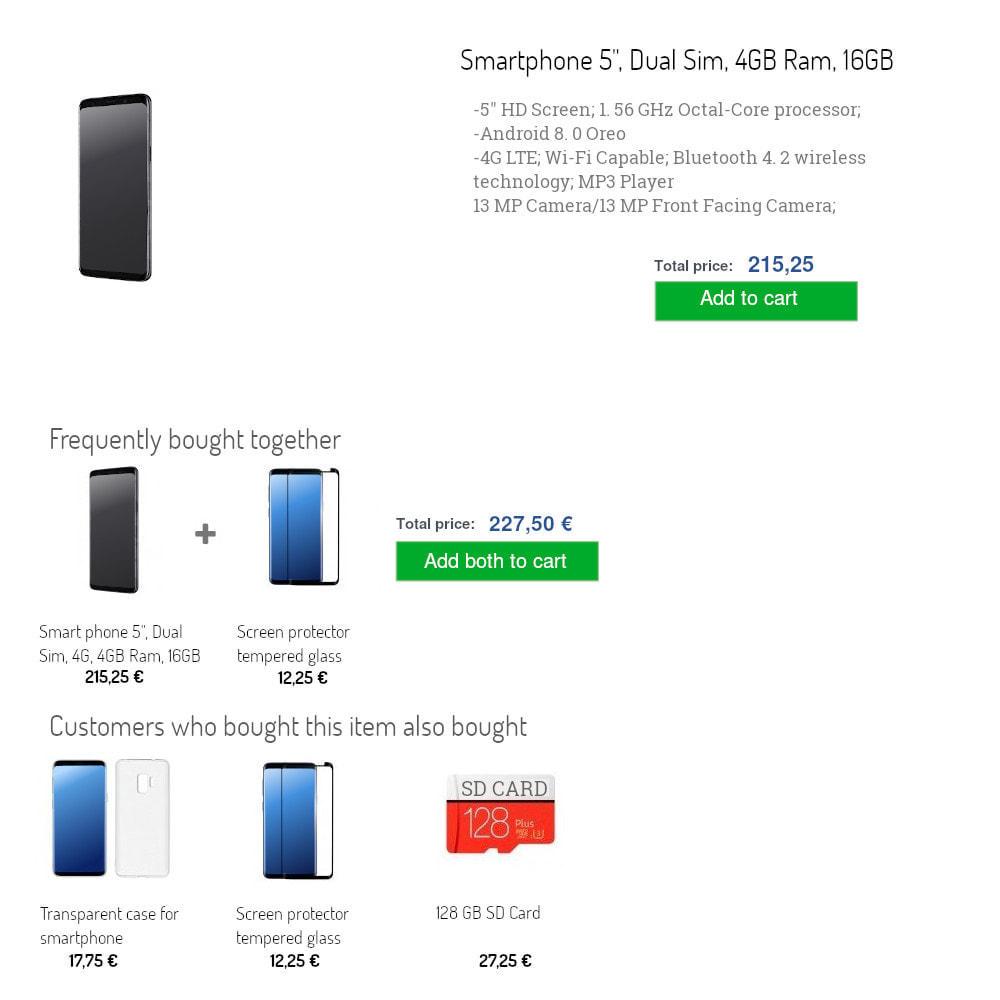 module - Перекрестные продажи и Создание комплектов - Shoptimiza Cross sell - 2