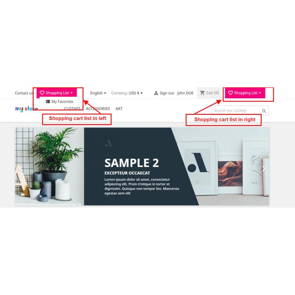 module - Wishlist & Gift Card - Shopping Cart List | Wishlist Buy Later | Save Favorite - 3