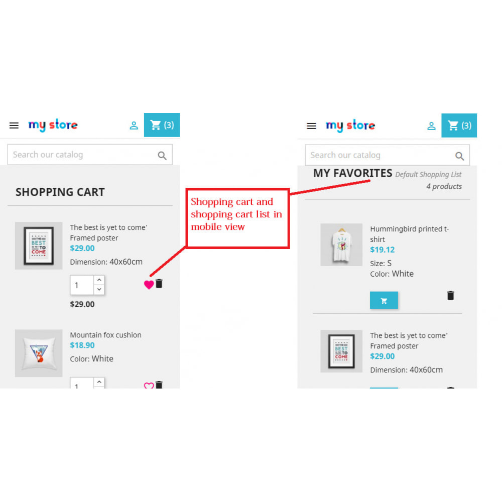 module - Wishlist & Gift Card - Shopping Cart List | Wishlist Buy Later | Save Favorite - 13