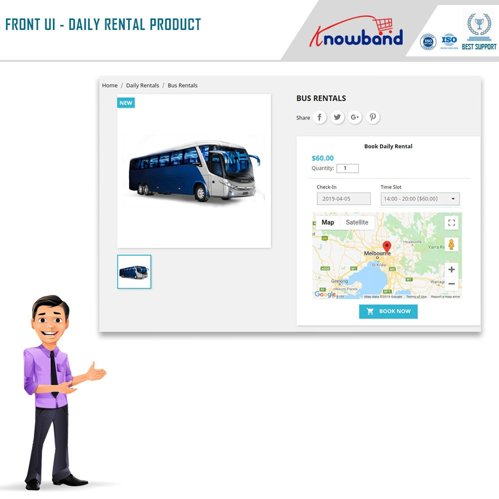 module - Reservation & Rental System - Knowband - Booking and Rental System - 3