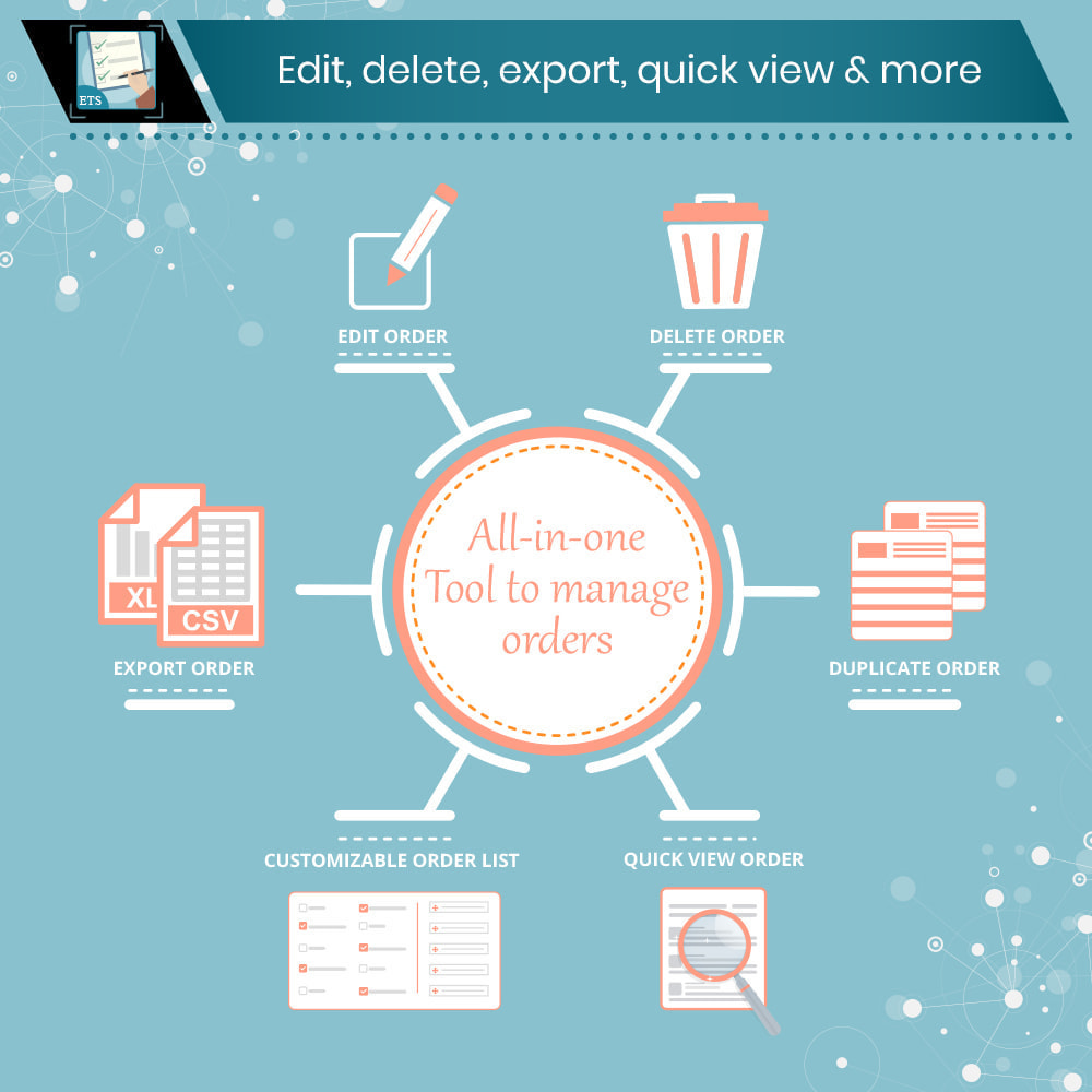 module - Gerenciamento de pedidos - Order Manager: Edit, delete, export, quick view & more - 1