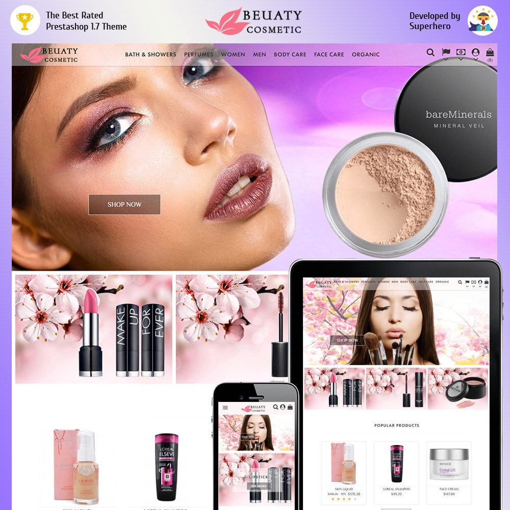 theme - Health & Beauty - Beauty Cosmetic - 1
