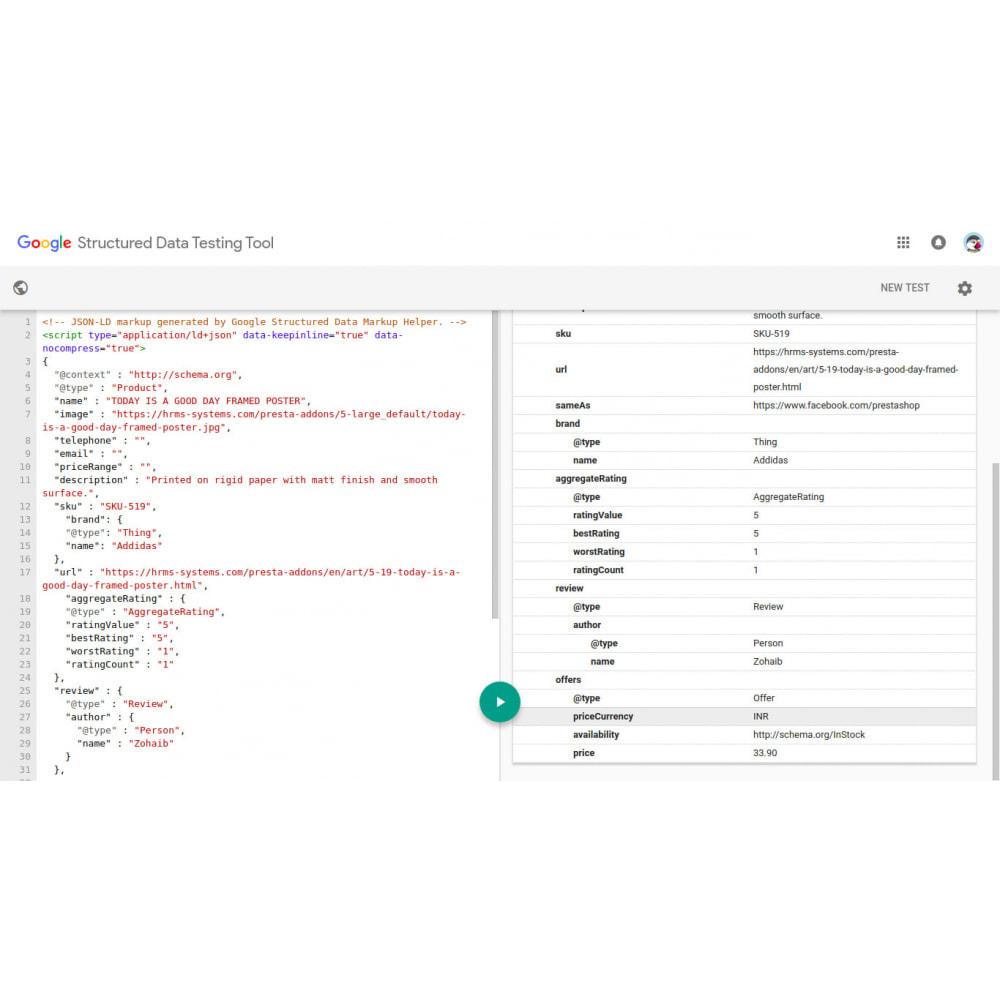module - SEO (référencement naturel) - Schéma de données structurées SEO et Rich Snippet - 4