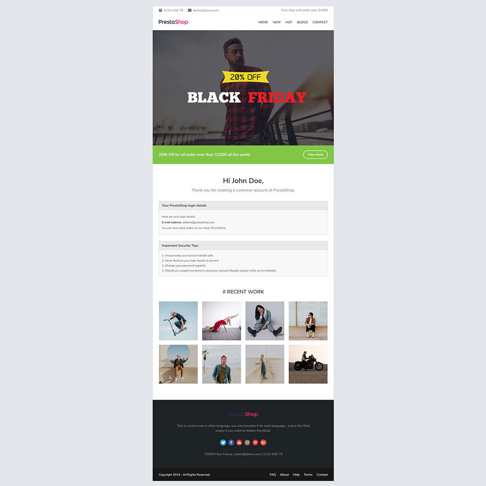 email - Email templates PrestaShop - Momo - Email template - 3