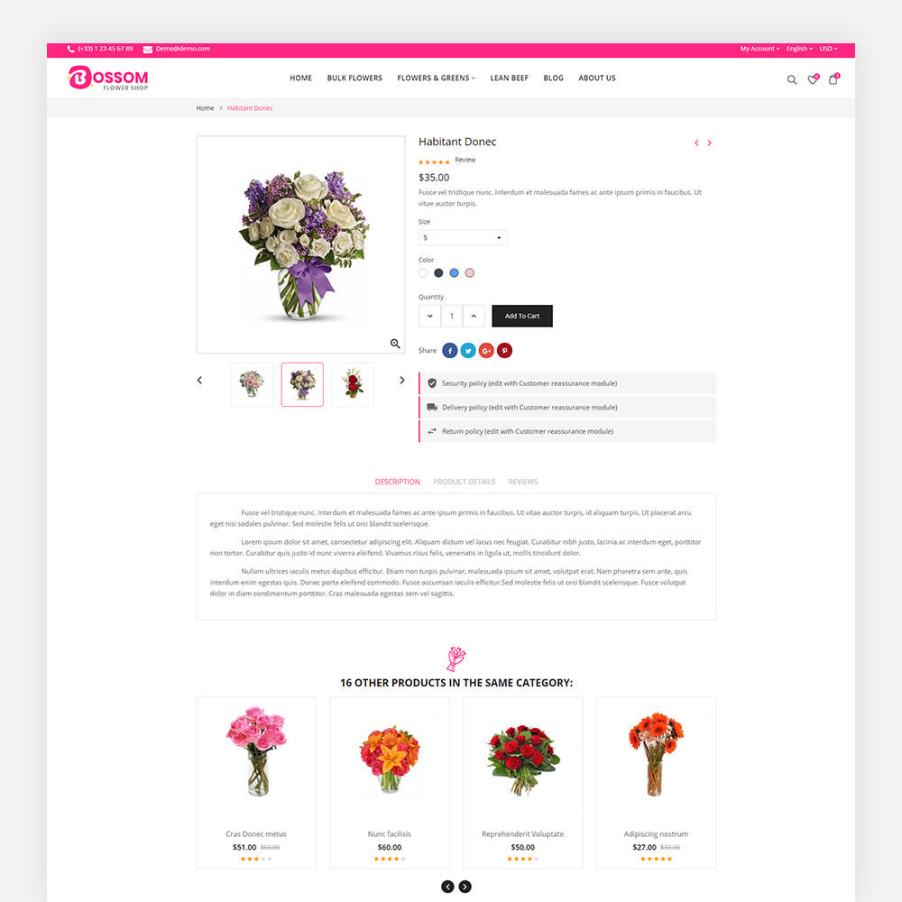 theme - Presentes, Flores & Comemorações - Bossom Flower Shop - 7