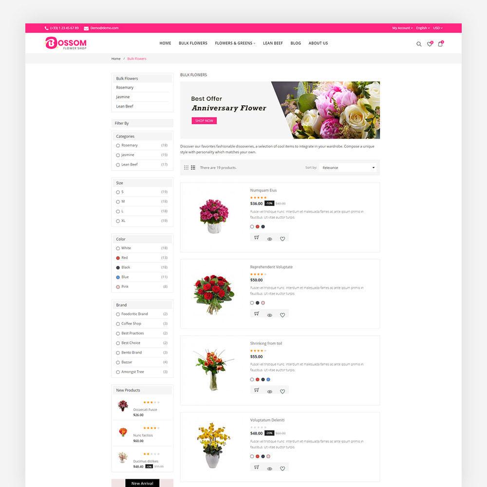 theme - Cadeaux, Fleurs et Fêtes - Bossom Flower Shop - 7