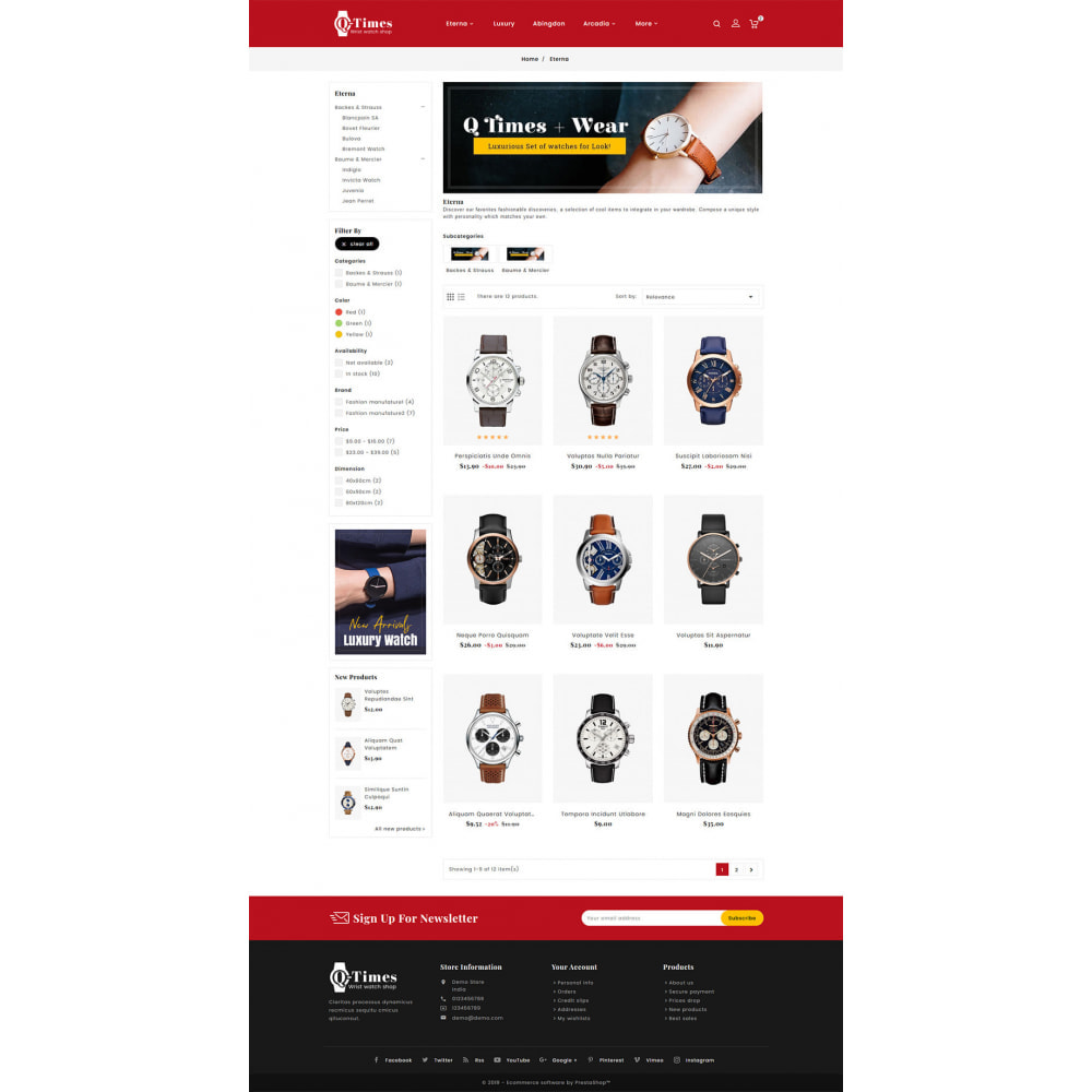 theme - Jewelry & Accessories - Q-Times Watches Store - 3