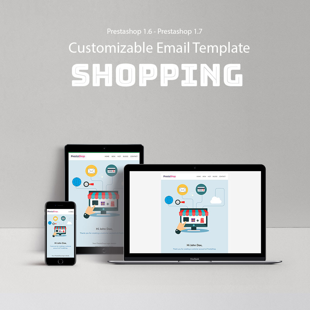email - Templates d'e-mails PrestaShop - Shopping - Email template - 1