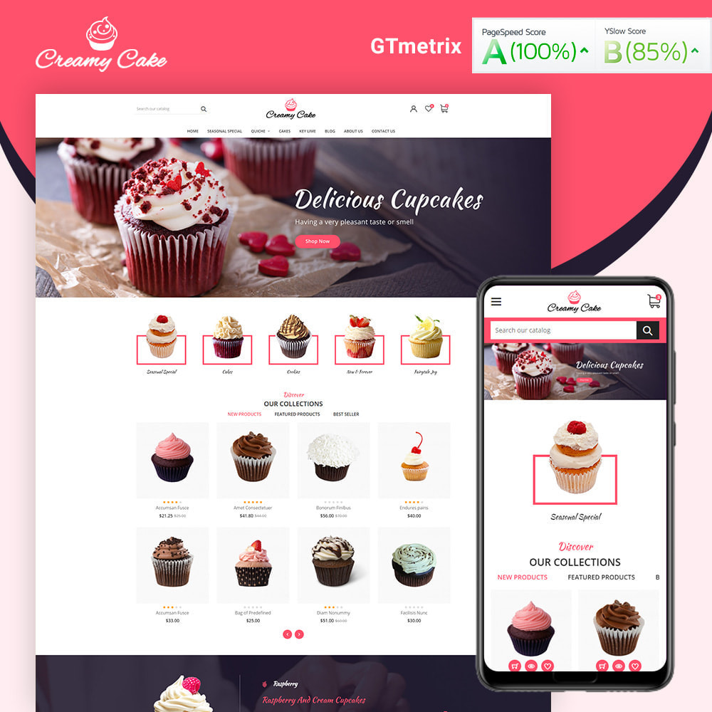 theme - Alimentation & Restauration - Creamy Cake Shop - 1