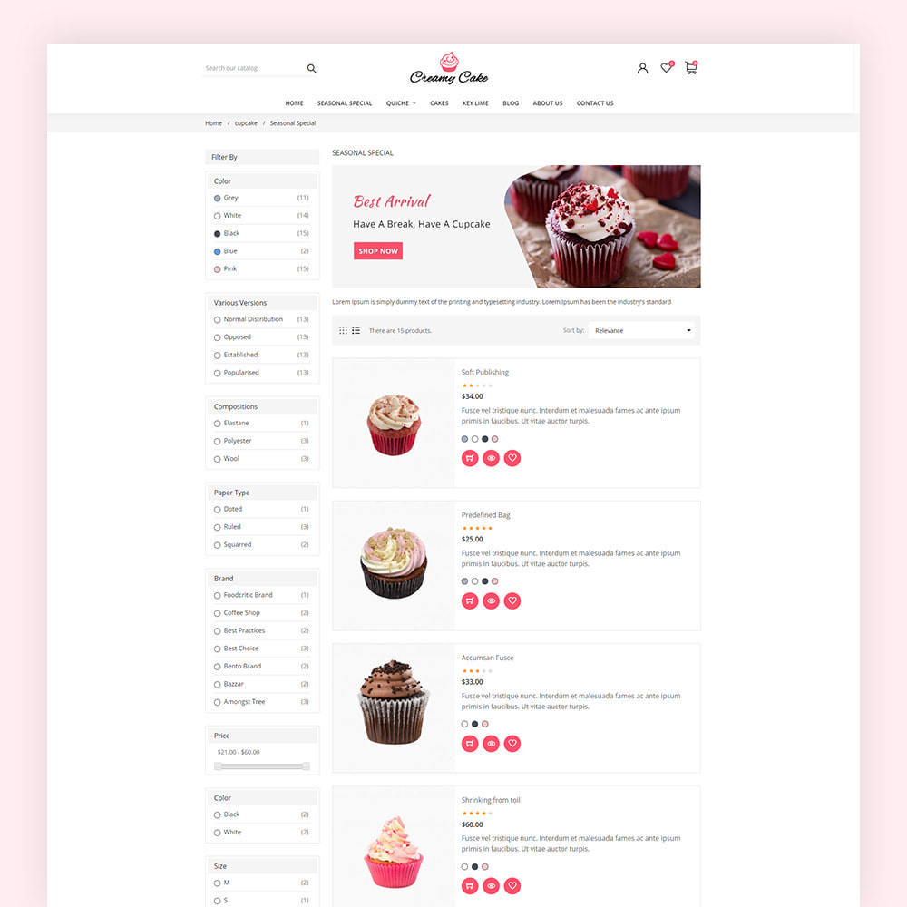 theme - Lebensmittel & Restaurants - Creamy Cake Shop - 6