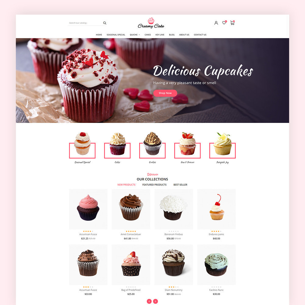 theme - Alimentation & Restauration - Creamy Cake Shop - 3