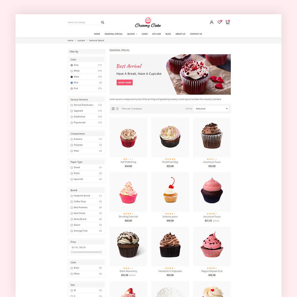theme - Alimentation & Restauration - Creamy Cake Shop - 6