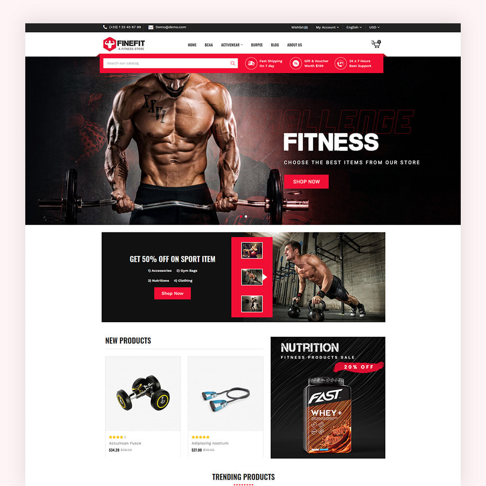theme - Sport, Loisirs & Voyage - Finefit Fitness Store - 3