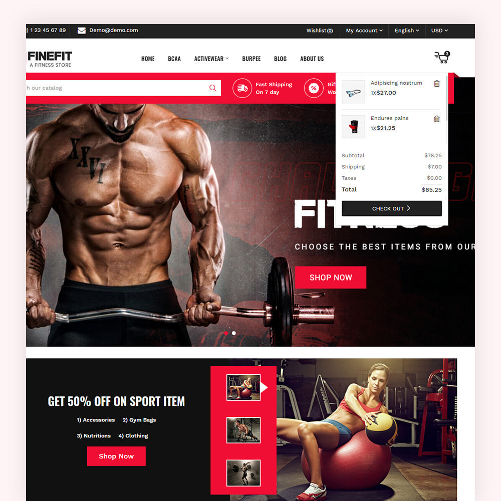 theme - Sport, Loisirs & Voyage - Finefit Fitness Store - 5