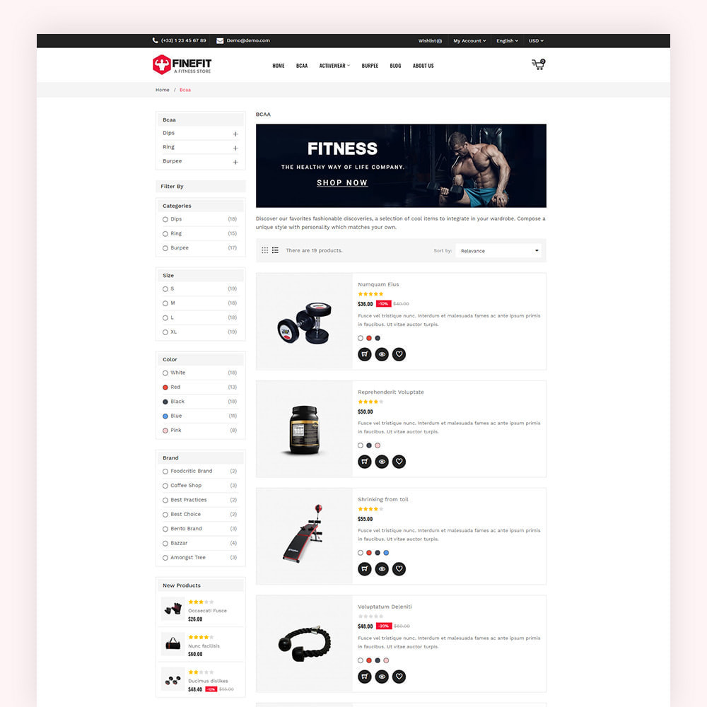 theme - Sport, Loisirs & Voyage - Finefit Fitness Store - 7