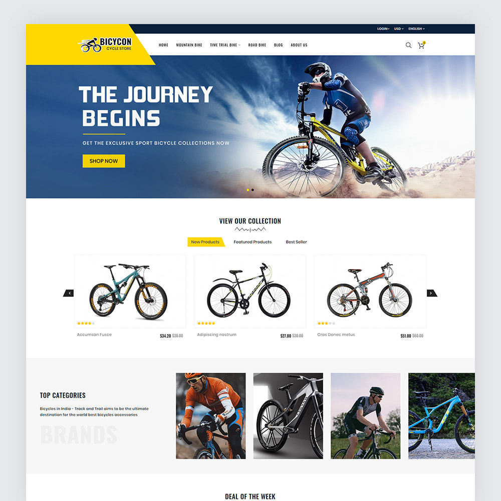 theme - Deportes, Actividades y Viajes - Bicycon Cycle Store - 2