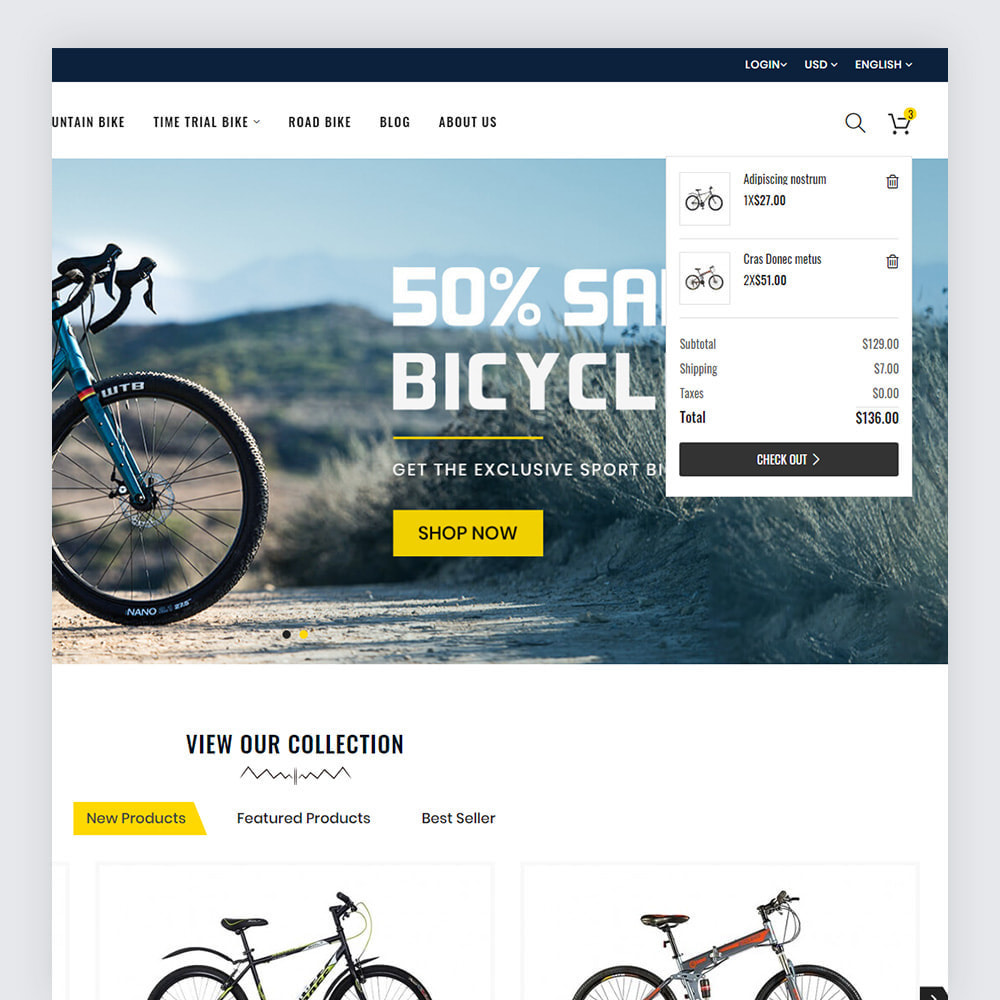 theme - Sport, Loisirs & Voyage - Bicycon Cycle Store - 5