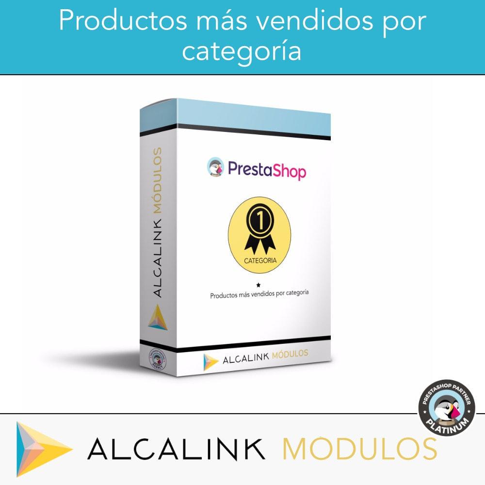 module - Bloques, Pestañas y Banners - Productos más vendidos POR CATEGORÍA - 1