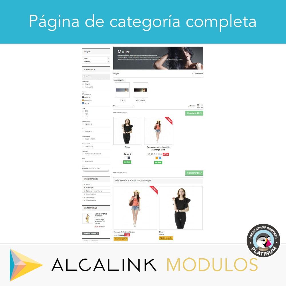 module - Bloques, Pestañas y Banners - Productos más vendidos POR CATEGORÍA - 5