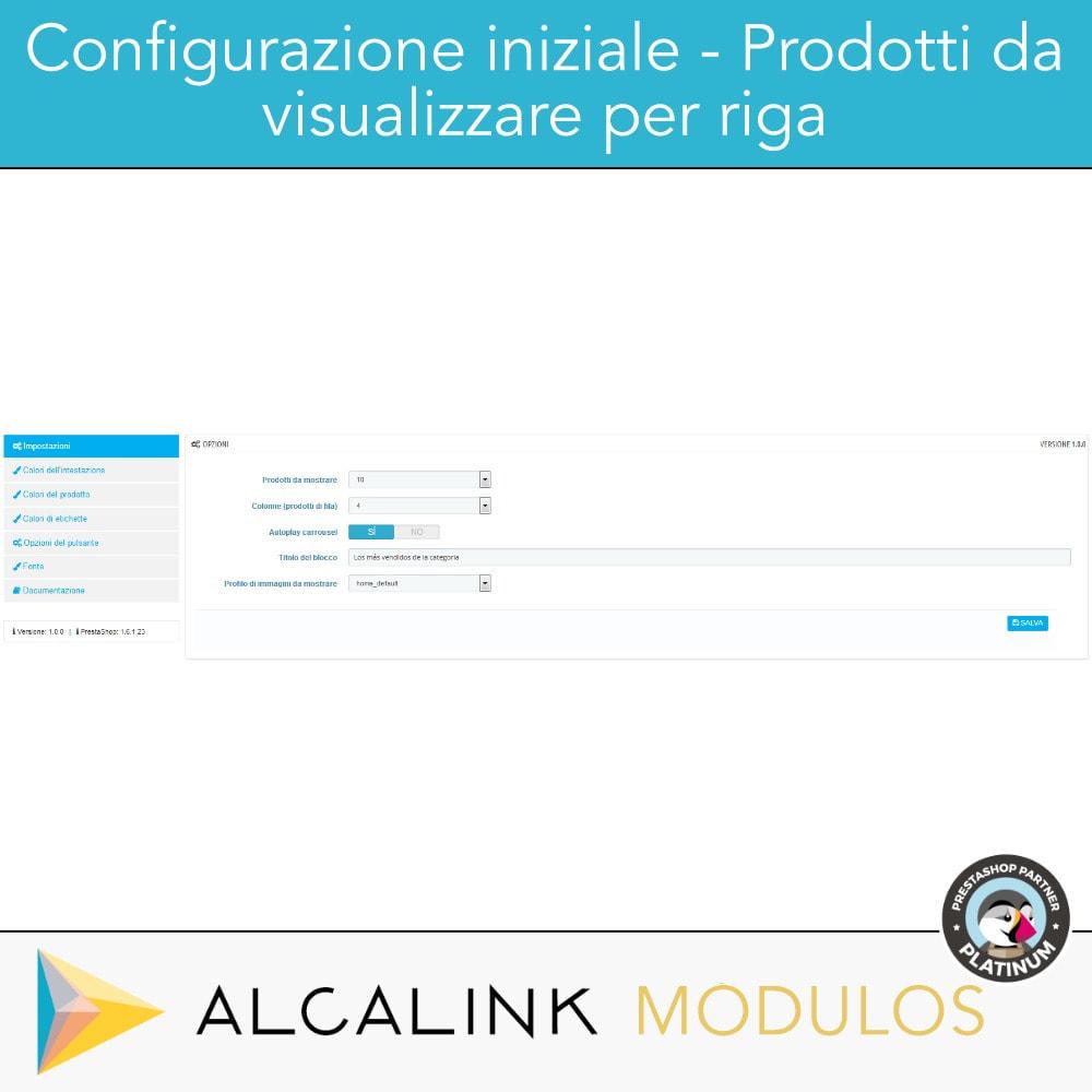 module - Blocchi, Schede & Banner - Prodotti più venduti PER CATEGORIA - 2