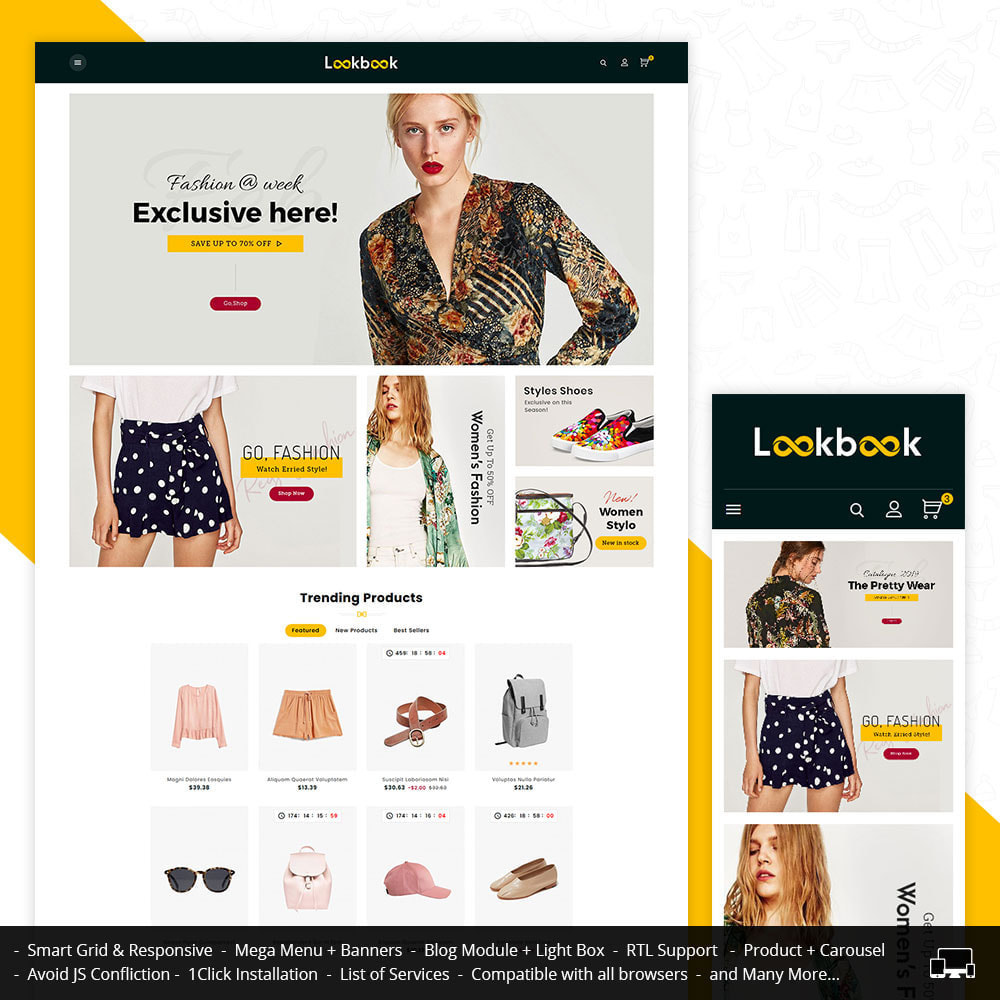 theme - Mode & Chaussures - Lookbook - Fashion Apparels - 1