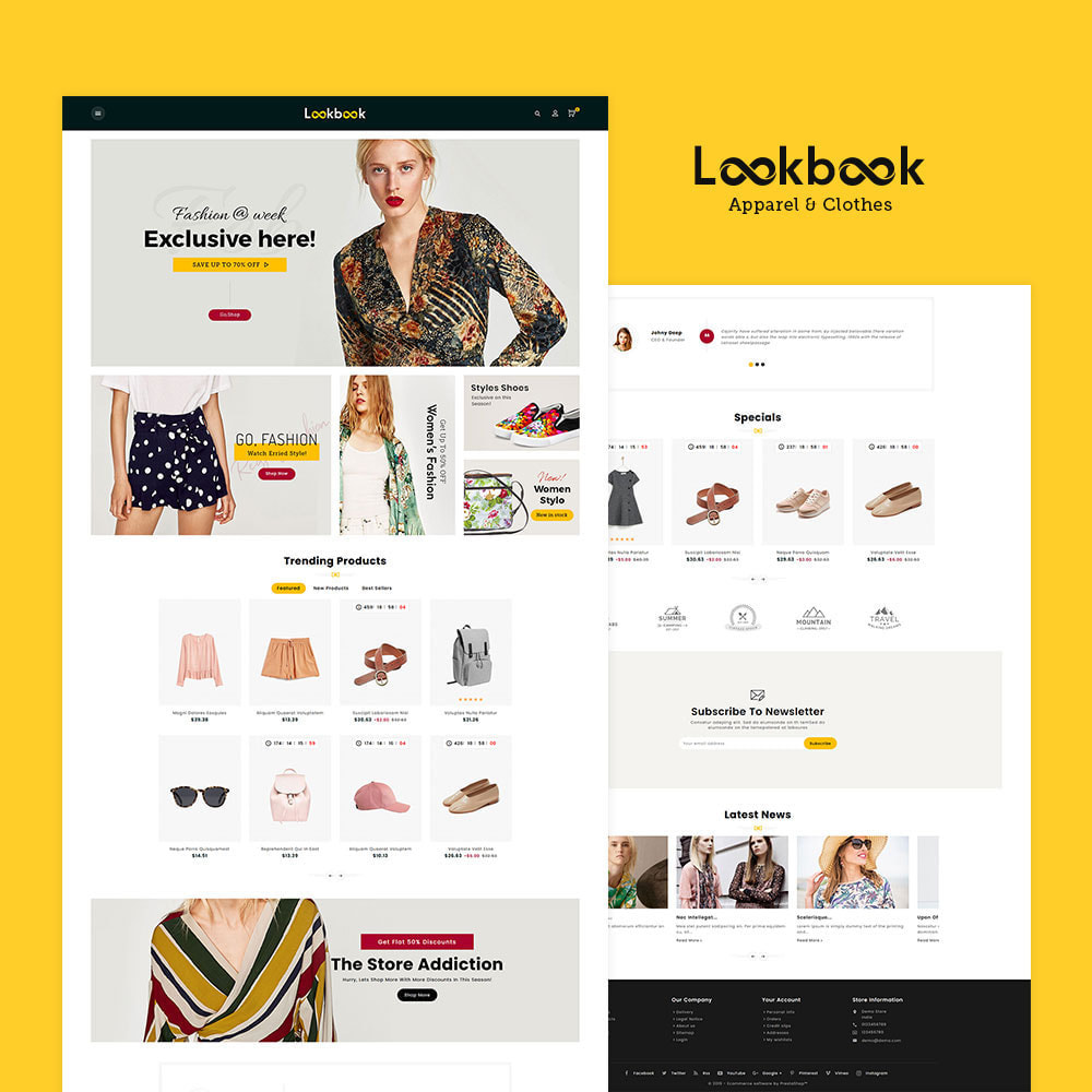 theme - Mode & Chaussures - Lookbook - Fashion Apparels - 2