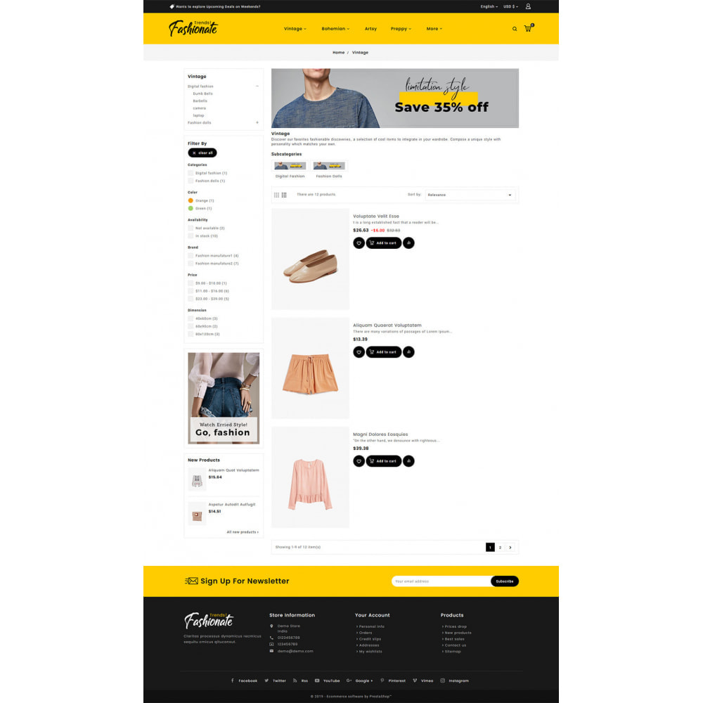 theme - Fashion & Shoes - Fashionate - Clothes & Trends - 4