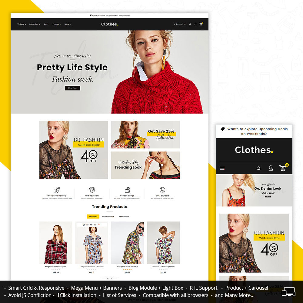 theme - Fashion & Shoes - Clothes - Fashion Apparels - 1