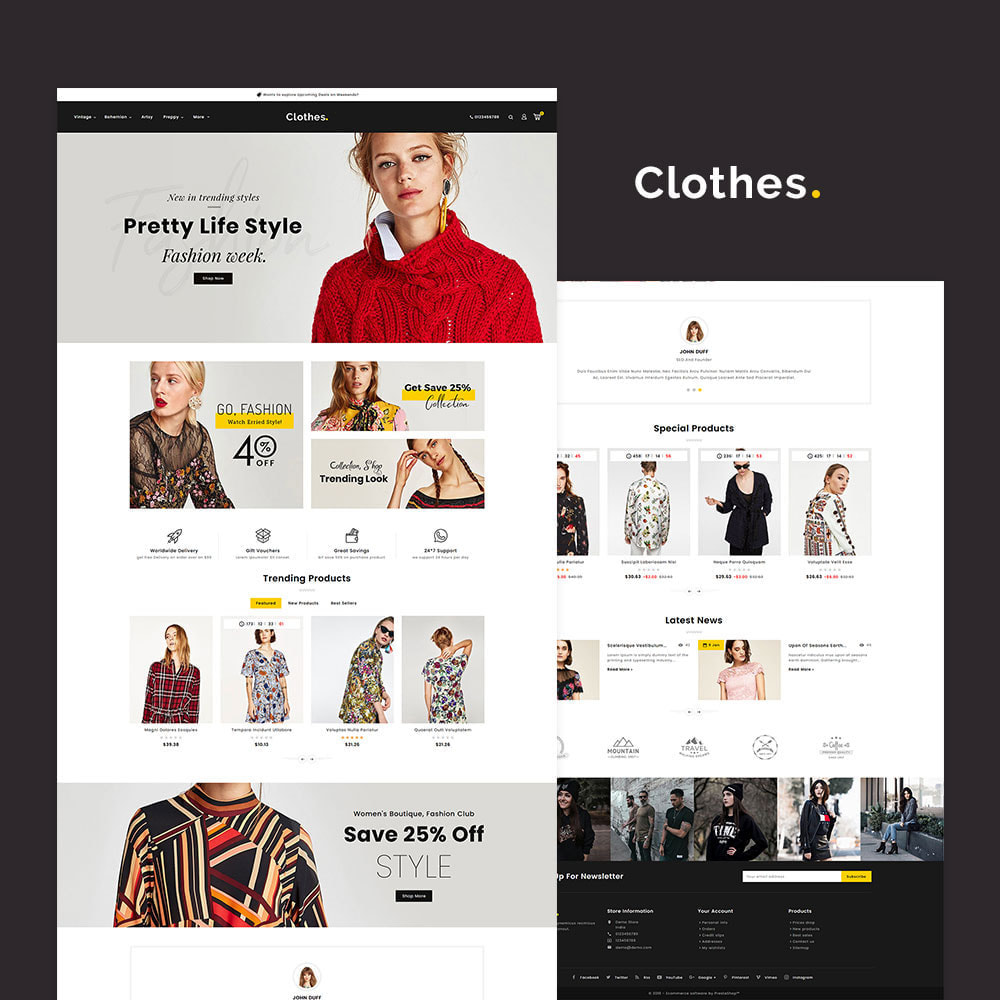 theme - Fashion & Shoes - Clothes - Fashion Apparels - 2