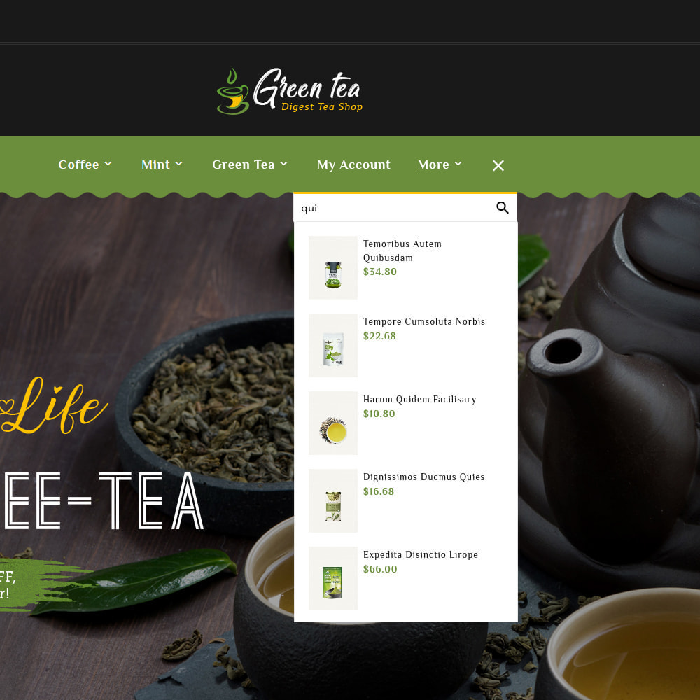 theme - Santé & Beauté - Green Tea - Digest Tea Shop - 10
