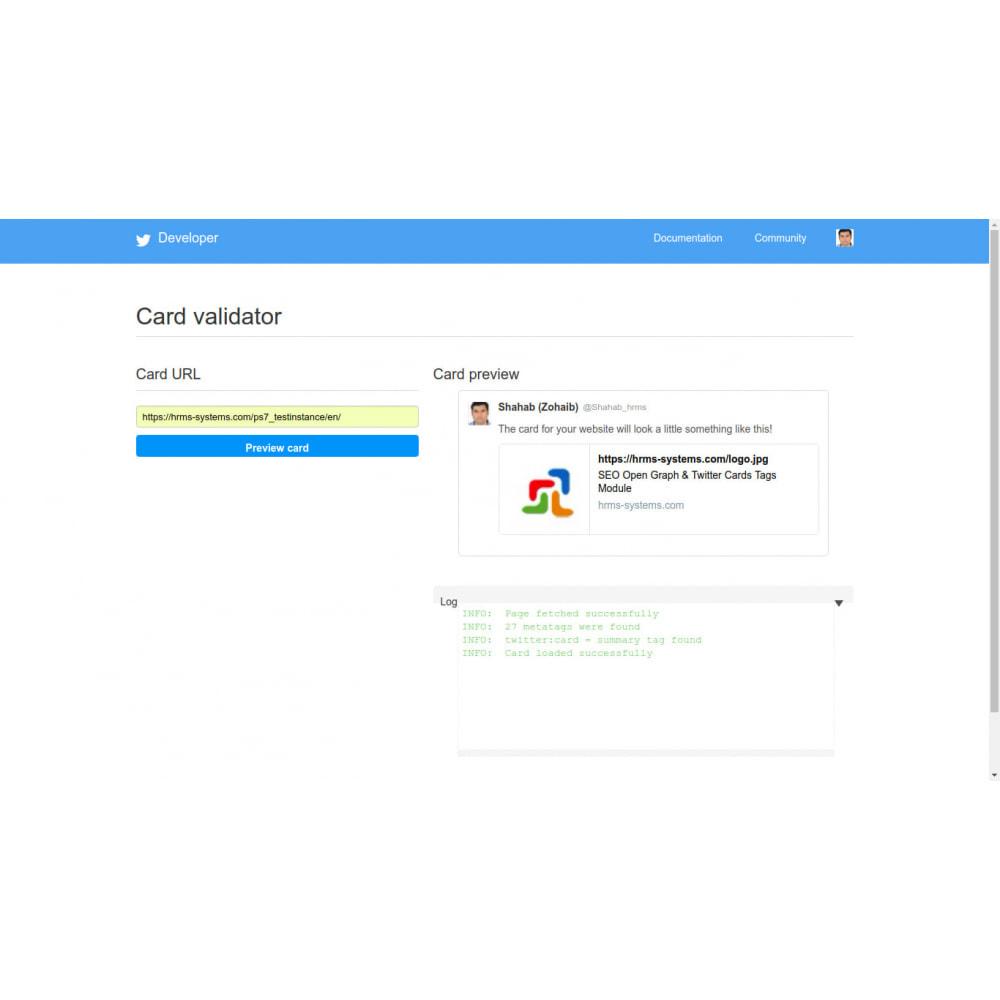 module - SEO (Indicizzazione naturale) - Generatore di tag SEO Open Graph e Twitter Card - 3