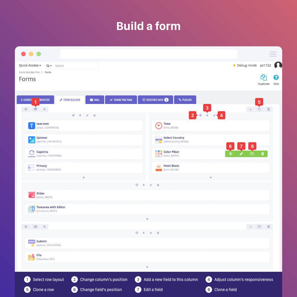 module - Форма обратной связи и Опросы - Form Builder - contact form, product, cms, quote Form - 9