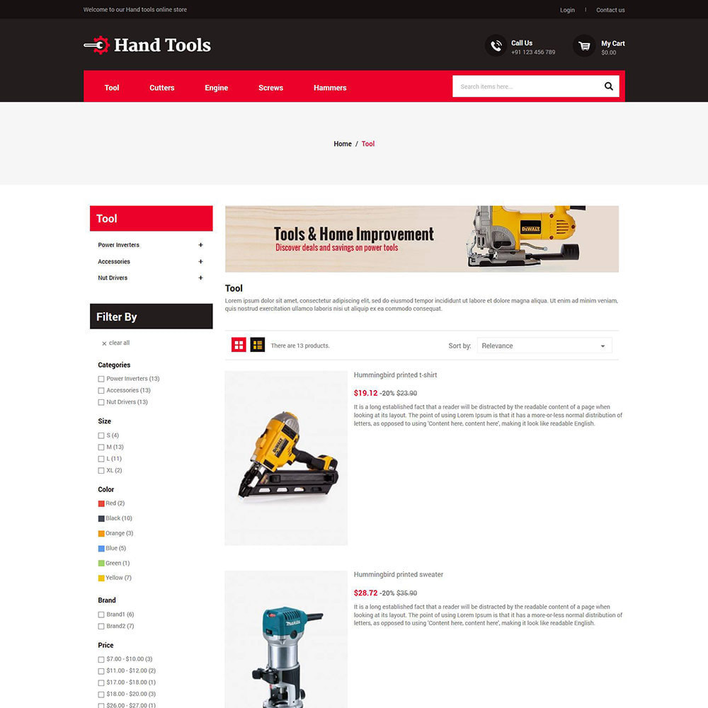 theme - Automotive & Cars - Hand Tools - Equipment Spare Part Store - 4